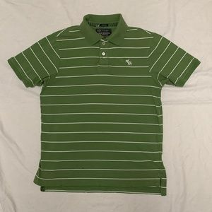 Abercrombie and Fitch Green Striped Polo!